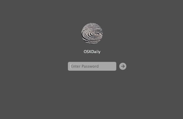 Una schermata di accesso a OS X