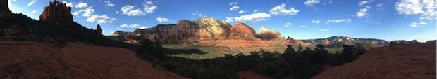 Foto panoramica scattata da iPhone 5 piccoli