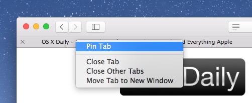 Come aggiungere una linguetta in Safari con il tasto destro del mouse