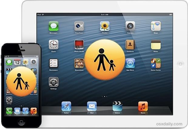 Usa le restrizioni come controllo parentale per iPhone, iPad, iPod Touch