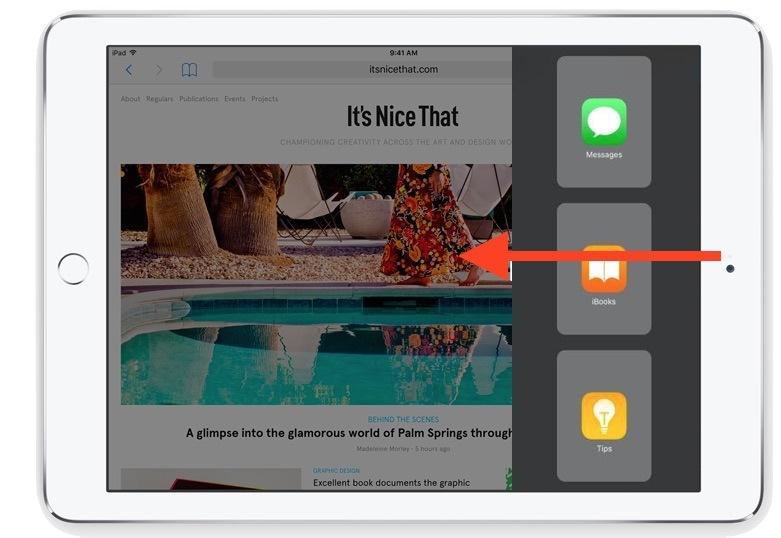 Accedere a Slide Over su iPad