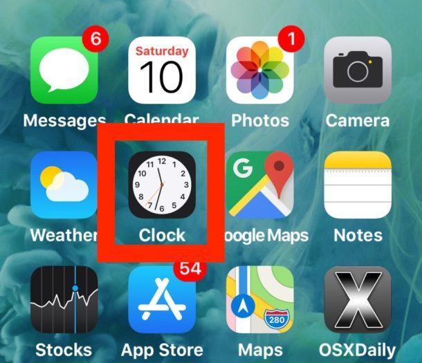 Apri l'app Orologio per accedere a Cronometro