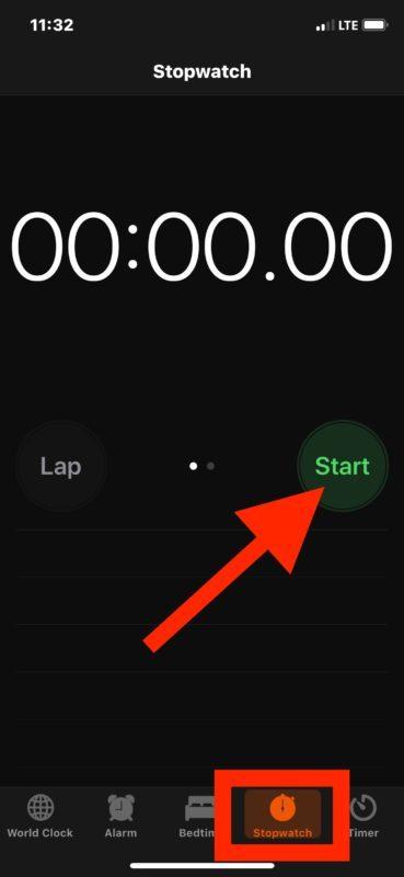 Come accedere e utilizzare Cronometro su iOS
