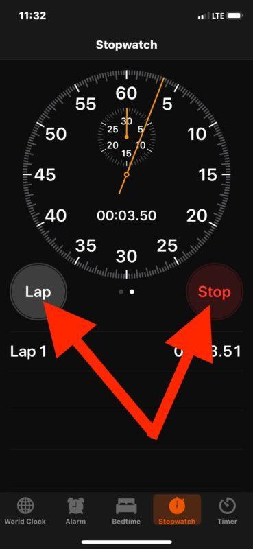 Come segnare giri in cronometro su iPhone