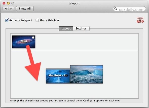 Configura Teleport in Mac OS X per una facile condivisione della tastiera