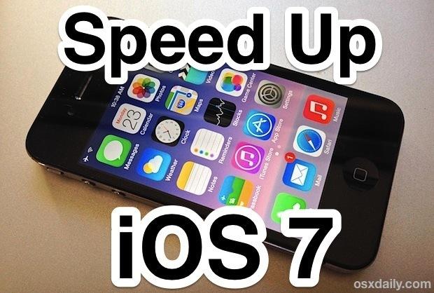 Accelerare iOS 7