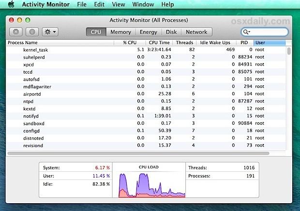 Aumentare la velocità di reporting di Activity Monitor