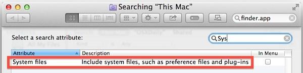 Aggiungi file di sistema come attributo di ricerca