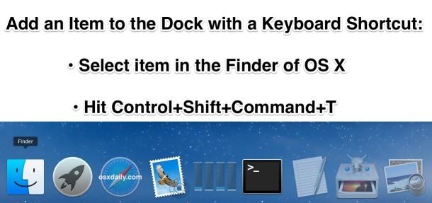 Aggiungi alla scorciatoia da tastiera Dock in OS X