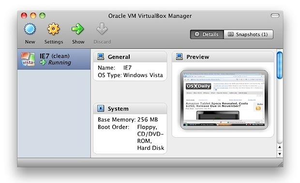 Internet Explorer VM per Mac