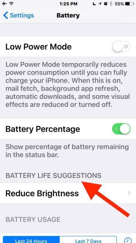 Suggerimenti sulla durata della batteria in iOS 10