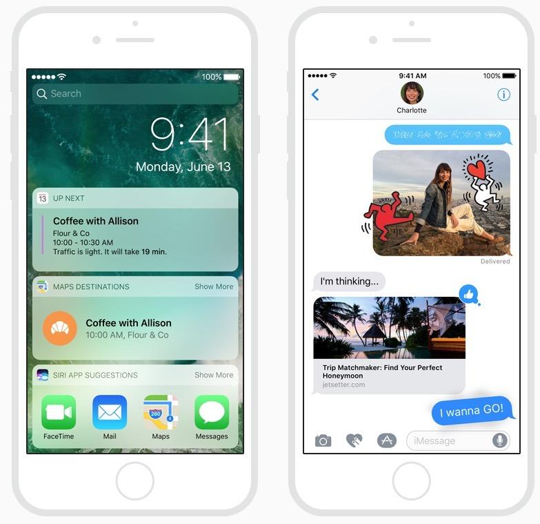 Schermate di iOS 10