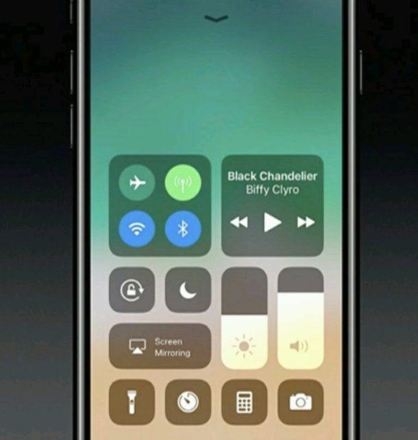Centro di controllo iOS 11