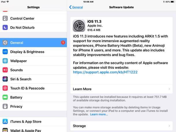 Aggiornamento del software iOS 11.3 disponibile per il download