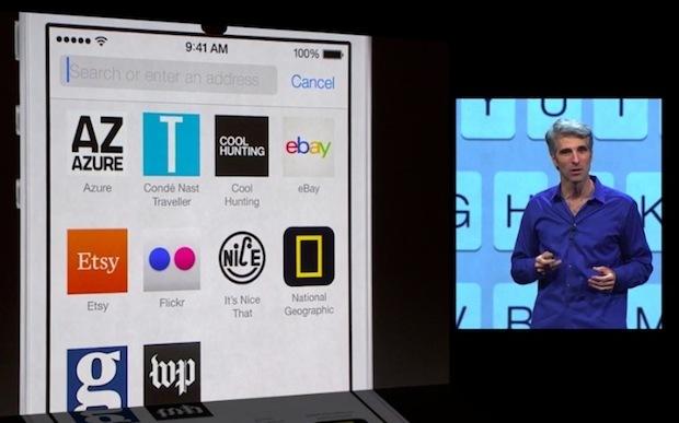 Safari in iOS 7