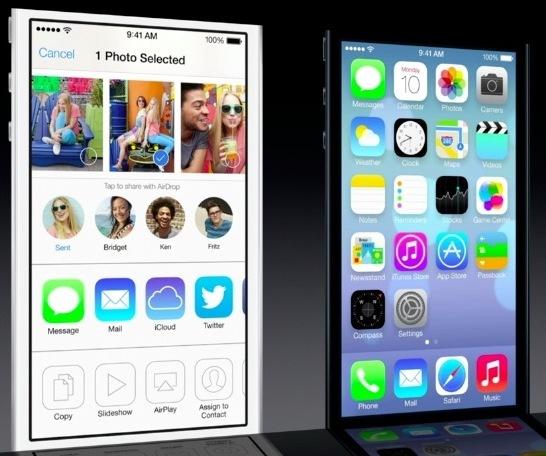 Condivisione AirDrop per iOS 7
