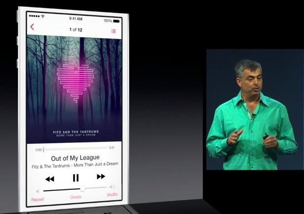 App di musica iOS 7