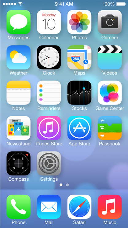 Icone di iOS 7 e schermata iniziale