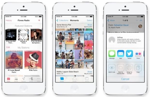 screenshot di iOS 7