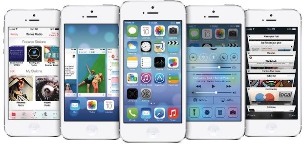 schermata di iOS 7