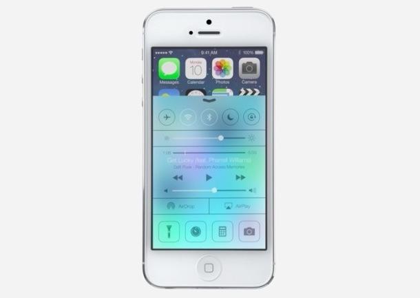 Centro di controllo iOS 7