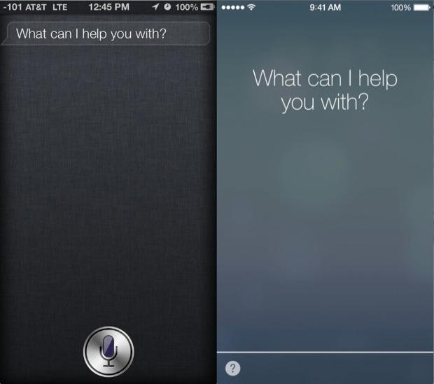 Siri in iOS 6 vs iOS 7
