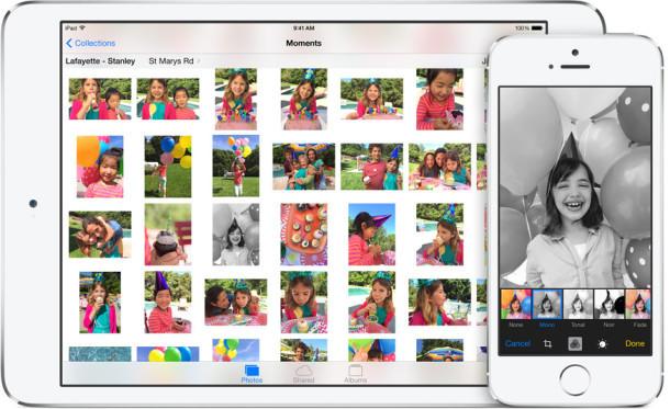 Editor di foto iOS 8
