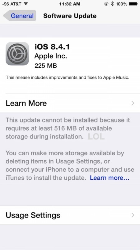 Download dell'aggiornamento iOS 8.4.1