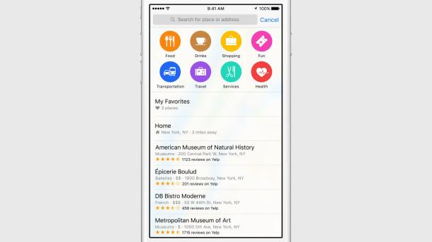 Mappe e nuovo carattere di sistema in iOS 9