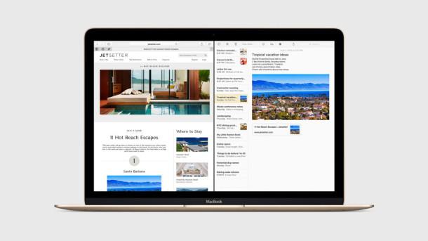 Visualizzazione dello schermo diviso multitasking per iOS 9 per iPad