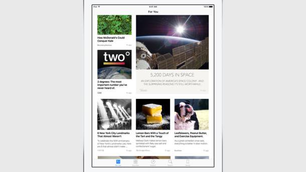 App di notizie iOS 9