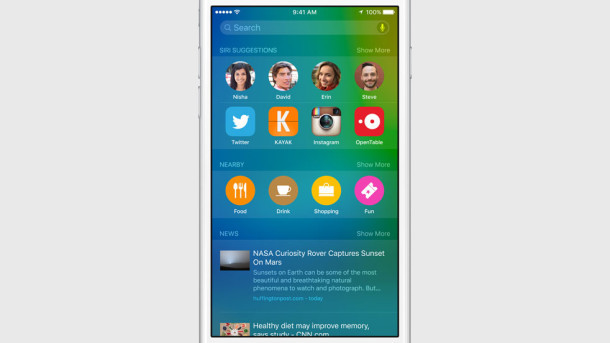 iOS 9 riflettori