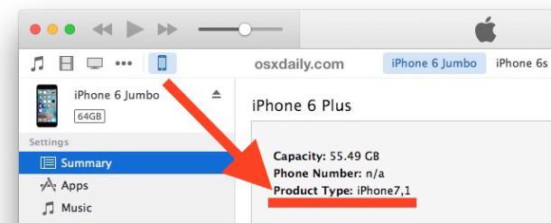 Trova il numero ID del tipo di prodotto iPhone
