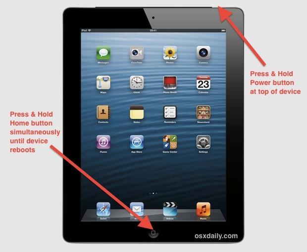 Forza il riavvio di un iPad