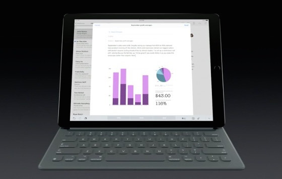 iPad Pro con tastiera intelligente