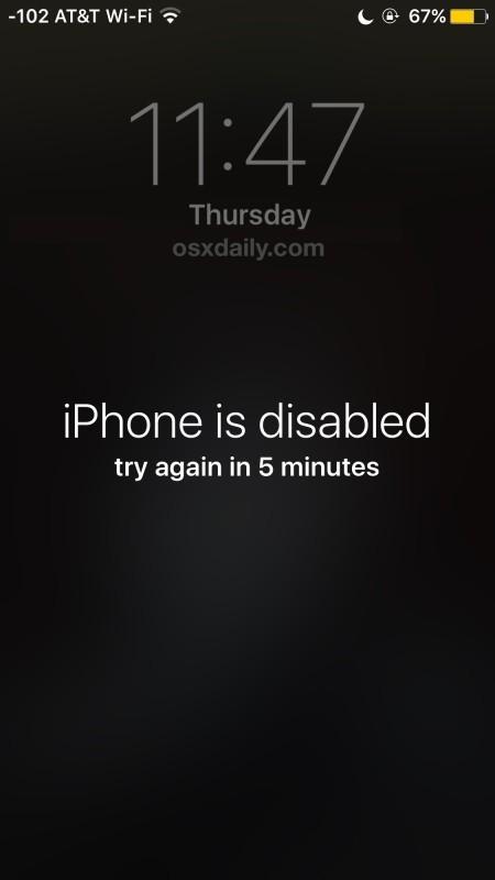 iPhone è disabilitato messaggio di errore e come risolverlo