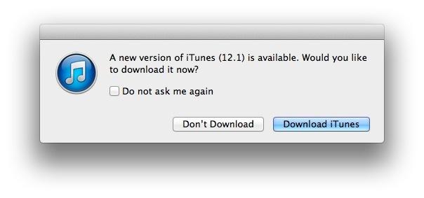 iTUnes 12.1 per OS X Mavericks