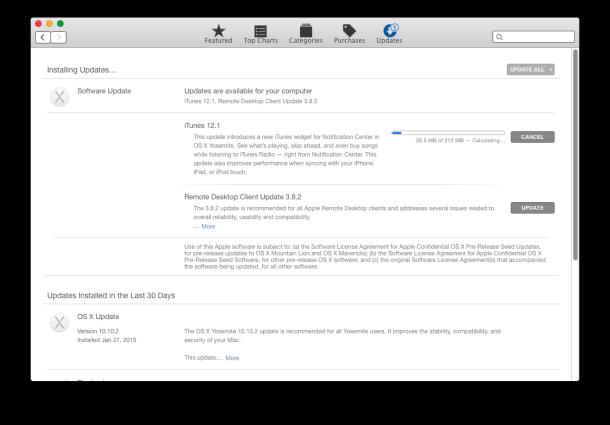 iTunes 12.1, incluso un widget