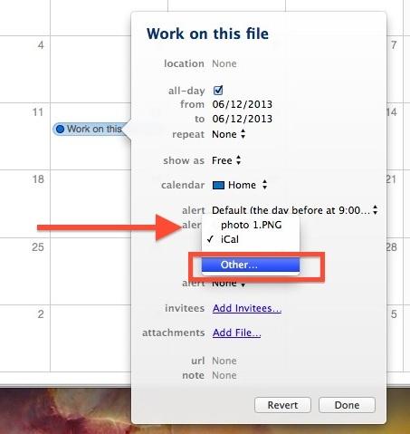 Apri un file in una data impostata