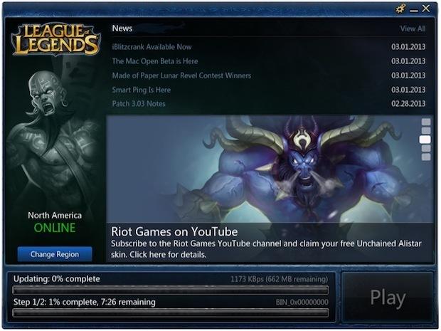 Download di League of Legends per Mac