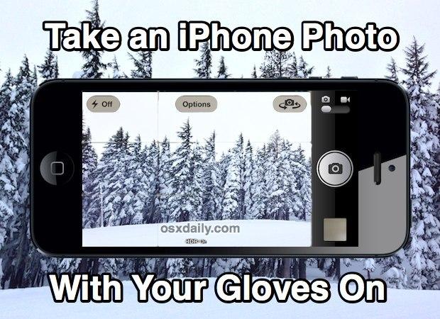 Prendi una foto di iPhone con i guanti