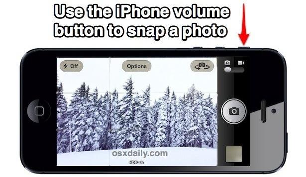 Scatta una foto con il pulsante del volume dell'iPhone