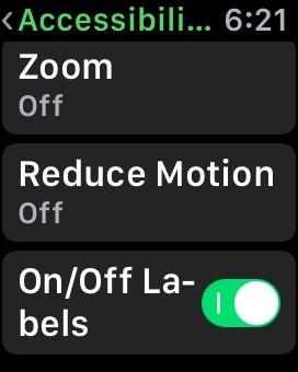 Riduci l'animazione su Apple Watch