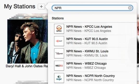 Aggiungi la stazione NPR in iTunes