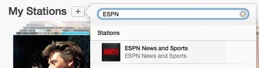 Aggiungi ESPN Radio alla radio di iTunes
