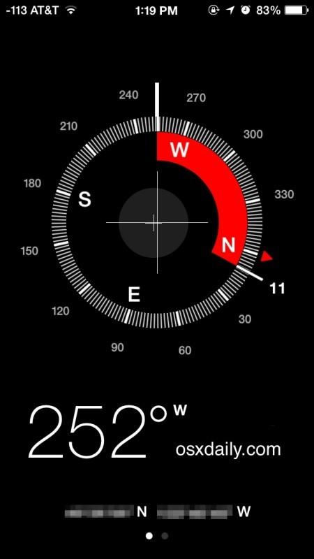 Blocca la posizione della bussola sull'iPhone per una migliore navigazione