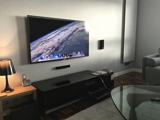 TV a parete con Mac Mini media center