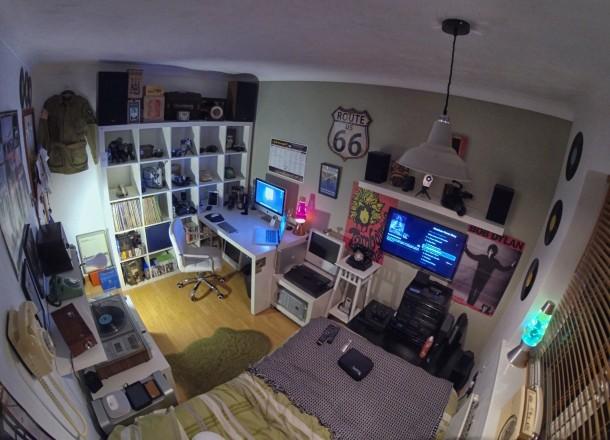 Installazione Mac vintage, ufficio stanza piena