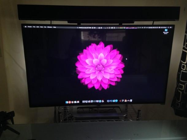 Mac desktop di installazione desktop, TV come display e soundbar