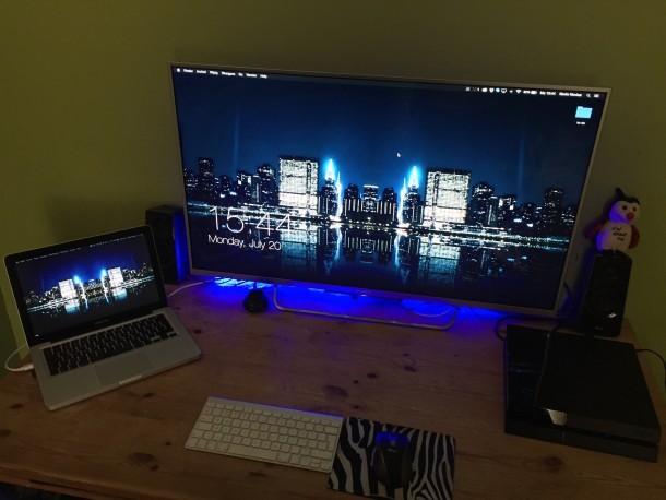 MacBook Pro con display TV